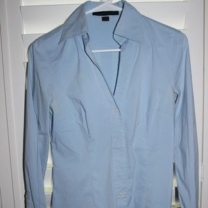 EXPRESS DESIGN baby blue long sleeve fitted top